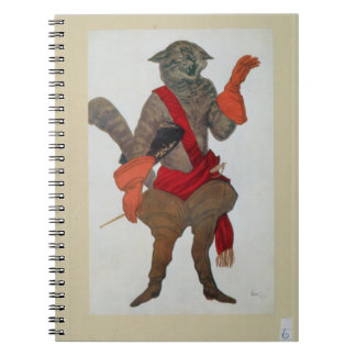 Puss in Boots, from Sleeping Beauty, 1921 (colour Spiral Notebook