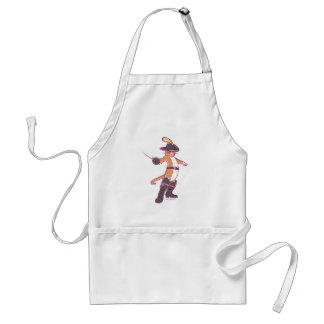 Puss In Boots Illustration Adult Apron