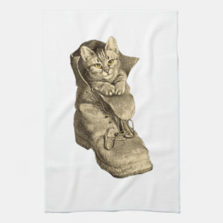 Puss In Boots Hand Towels