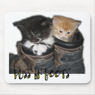 Puss In Boots Kittens Photograph Mouse Pad