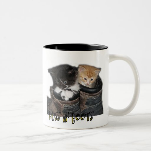 Puss In Boots Kittens Photograph Two-Tone Coffee Mug
