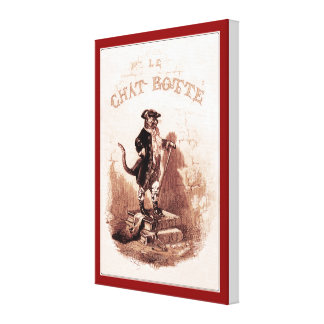 Puss in Boots (Le chat botté) Canvas Print