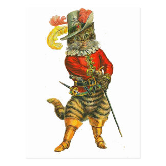 Puss in Boots Postcard