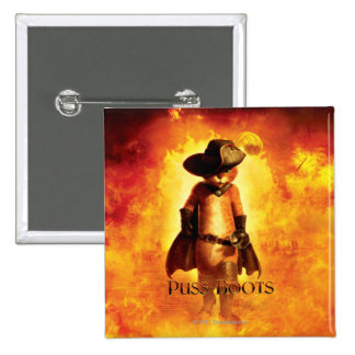 Puss In Boots Poster 2 Inch Square Button