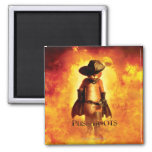 Puss In Boots Poster 2 Inch Square Magnet