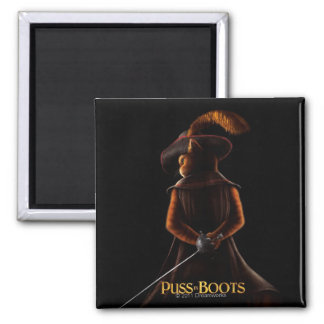 Puss In Boots Poster Blk Magnet