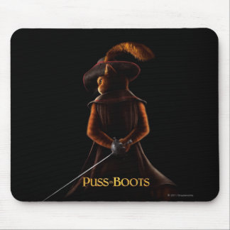 Puss In Boots Poster Blk Mouse Pad