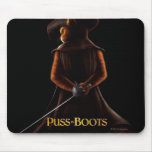 Puss In Boots Poster Blk Mousepads