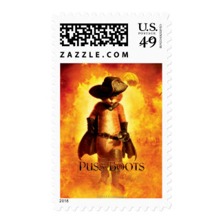 Puss In Boots Poster Postage Stamp