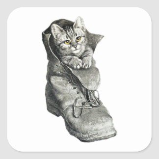 Puss in Boots Square Sticker