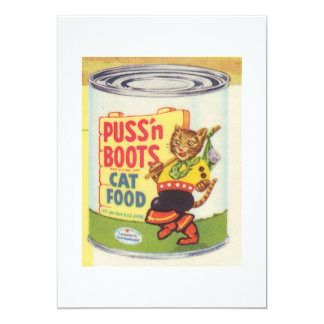 Puss In Boots Vintage Design 5x7 Paper Invitation Card