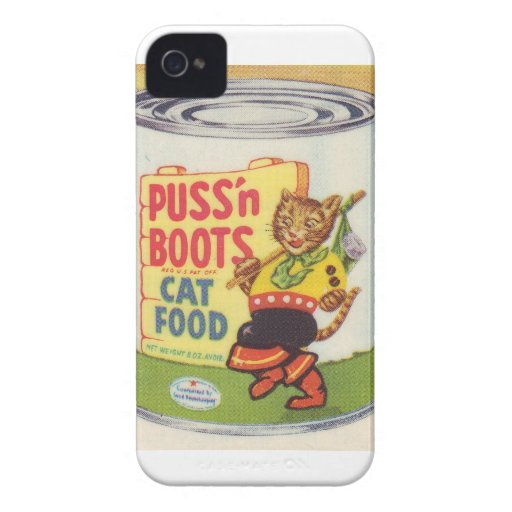Puss In Boots Vintage Retro Brand Case-Mate iPhone 4 Cases