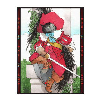 """""""Puss In Boots"""" Wrapped Canvas Print"""