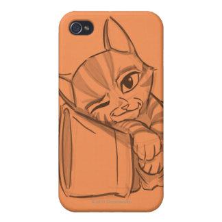 Puss joven en botas iPhone 4/4S carcasa