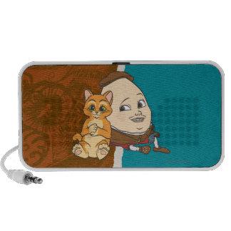 Puss joven y Humpty Laptop Altavoces