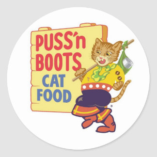 Puss' N Boots Classic Round Sticker