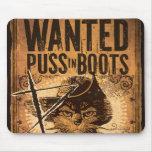Puss querido en botas alfombrilla de ratón