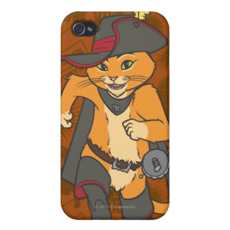 Puss Running iPhone 4/4S Covers