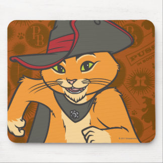 Puss Running Mouse Pad