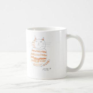 """""""Puss taza del gato de Aidan"""""""