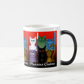 PUSSIES GALORE 11 OZ MAGIC HEAT Color-Changing COFFEE MUG