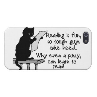 Pussy Can Read Funny Cat Cover For iPhone SE/5/5s