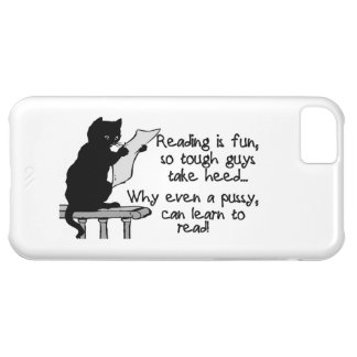 Pussy Can Read Funny Cat iPhone 5C Cover