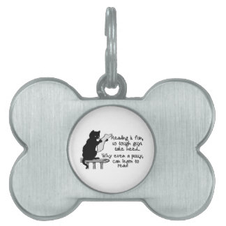 Pussy Can Read Funny Cat Pet ID Tag