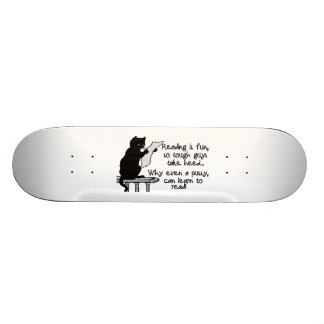 Pussy Can Read Funny Cat Skateboard Deck