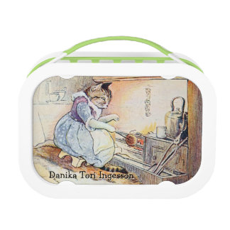 Pussy Cat by the Fire Personalized Lunch Box