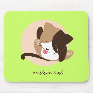 Pussy Cat Lick Mouse Pad