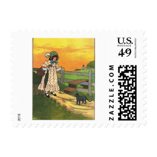 Pussy-cat, pussy-cat, Where have you been? Postage Stamp