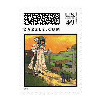 Pussy-cat, pussy-cat, Where have you been? Postage Stamps