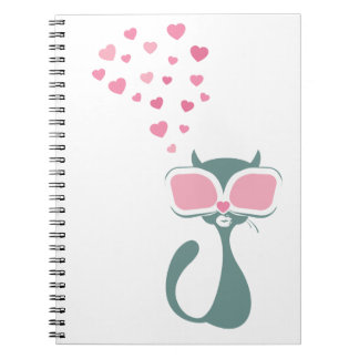 Pussy Golightly Love Spiral Note Books