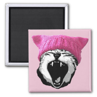 Pussy-hat Magnet - square
