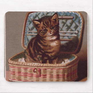 Pussy in the Workbasket Mouse Pad