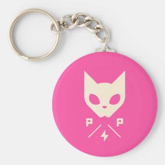 Pussy Power Basic Button Keychain