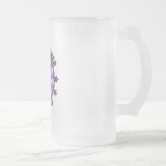 Pussy Power Frosted Glass Beer Mug