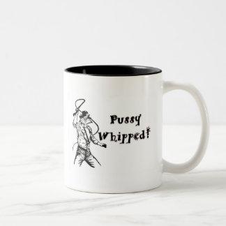 Pussy Whipped! Two-Tone Coffee Mug