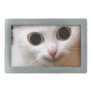 Pussy white  Cat Rectangular Belt Buckle
