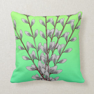 Pussy Willow Branches Pillow