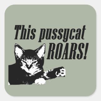 Pussycat Roars Square Sticker