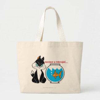 Pussyfoot Grumpy Kitty Jumbo Tote Bag