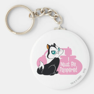 Pussyfoot I Must Be Pampered Basic Round Button Keychain