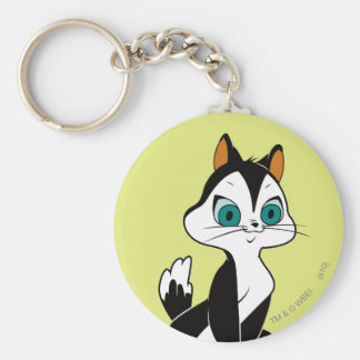 Pussyfoot Let's Play Basic Round Button Keychain