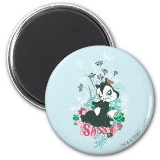 Pussyfoot Sassy 2 Inch Round Magnet