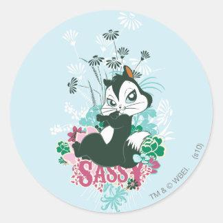 Pussyfoot Sassy Classic Round Sticker