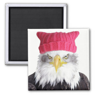 PussyHat Project Women's Rights Eagle Magnet