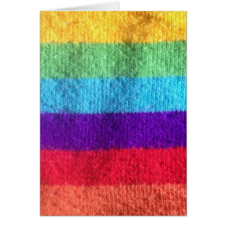 Put a colorfull sock on it sock fabric image card