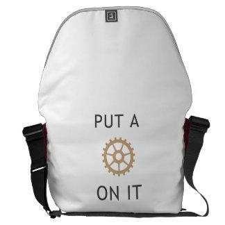 Put a Gear On It - Steampunk Messenger Bag